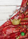 Chinese new year's decoration for Spring festival. Chinese New Year decorative items used in the belief that the good luck and wealth Stock Photo