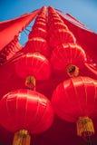 Chinese New Year`s lanterns in the city center. Kuala Lumpur. Malaysia royalty free stock photo