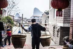 Chinese New Year`s sacrifices. During the annual Spring Festival, families visit temples to worship gods and ancestors, hoping that their families will be Royalty Free Stock Image