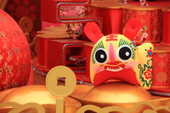Chinese new year scene. With 2010 chinese zodiac tiger doll