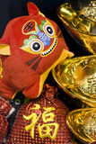 Chinese new year scene. With 2010 chinese zodiac tiger doll Stock Photo