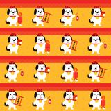 Chinese new year seamless. celebrate year of dog. This is chinese new year seamless design Royalty Free Stock Images