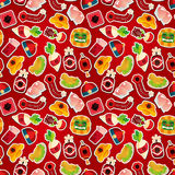 Chinese New Year seamless pattern Stock Image