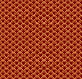 Chinese New Year seamless pattern. Chinese New Year seamless geometric pattern, golden on red. Vector illustration. Flat style design. Concept for holiday banner royalty free illustration