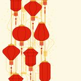 Chinese New Year seamless pattern with lanterns.  Stock Photography