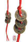 Chinese New Year series. Chinese New Year deco traditional china tie and antique coins
