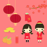 Chinese new year set Stock Photo