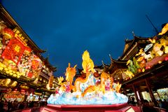 Chinese New Year in Shanghai, Year of the horse. Stock Photos