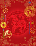 Chinese New Year of sheep background Royalty Free Stock Photos