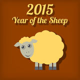 Chinese New Year of the Sheep 2015. Vector illustration Stock Photo