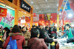 Chinese new year shopping Royalty Free Stock Photo