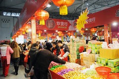 Chinese new year shopping Royalty Free Stock Images
