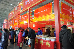 Chinese new year shopping Stock Photo