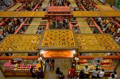 Chinese New Year Shopping. Takashimaya Shopping Mall attracts the crowd with its annual Chinese New Year sale Stock Photography