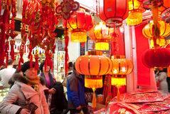 Chinese New Year shopping Stock Photos