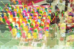 Chinese New Year shopping business economic growth. Chinese New Year shopping business economic growth stock data index background Royalty Free Stock Photos