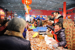 Chinese new year shopping in chengdu Royalty Free Stock Photos