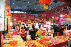 Chinese new year shopping in chengdu Royalty Free Stock Photo