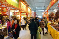 Chinese new year shopping festival in sichuan Stock Photos
