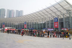 Chinese new year shopping festival in sichuan Royalty Free Stock Photography