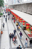 Chinese New Year, Shopping Street Royalty Free Stock Photography