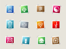 Chinese New Year simply icons Royalty Free Stock Photography