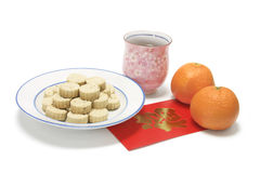 Chinese New Year Snack. On White Background