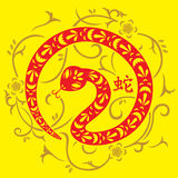 Chinese New Year of Snake. A vector illustration of Year of Snake design for Chinese New Year celebration royalty free illustration