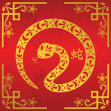 Chinese New Year of Snake. A vector illustration of Year of Snake design for Chinese New Year celebration stock illustration
