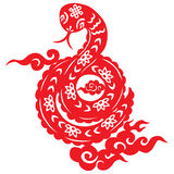 Chinese New Year Snake. Traditional paper cut of a snake Stock Image