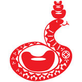 Chinese New Year Snake. Traditional paper cut of a snake Stock Photos
