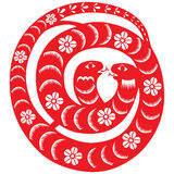 Chinese New Year Snake. Traditional paper cut of a snake Stock Images