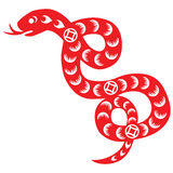 Chinese New Year Snake. Traditional paper cut of a snake Royalty Free Stock Photography