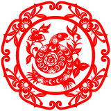 Chinese New Year Snake. Traditional paper cut of a snake Royalty Free Stock Images