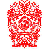 Chinese New Year Snake. Traditional paper cut of a snake Royalty Free Stock Photos