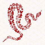 Chinese New Year of the Snake Royalty Free Stock Images