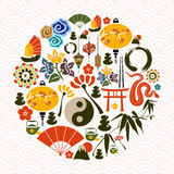 Chinese New Year of the Snake circle Royalty Free Stock Photos