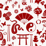Chinese New Year of the Snake pattern Stock Photo