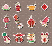 Chinese new year stickers Royalty Free Stock Photo