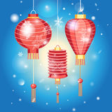 Chinese New Year. Stock Vector Chinese New Year with flashlights Royalty Free Stock Photography