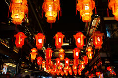 Chinese New Year on the surface color lights Royalty Free Stock Image