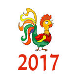 Chinese New Year 2017 symbol Rooster. Chinese New Year 2017 astrological symbol Rooster royalty free illustration