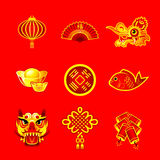 Chinese New Year symbols vector illustration