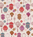 Chinese new year symbols. Seamless pattern. Royalty Free Stock Photography