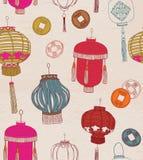 Chinese new year symbols. Seamless pattern. Stock Image