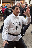 Chinese New Year Tae Chi Demonstration Royalty Free Stock Photos