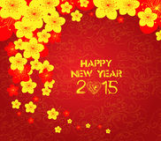 Chinese new year template background. Chinese New Year Greeting Card Royalty Free Stock Photography