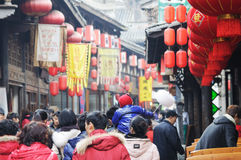 Chinese New Year Temple Fair in jinli Royalty Free Stock Images