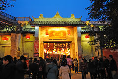 Chinese New Year Temple Fair in jinli Royalty Free Stock Photography