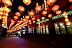 2016 Chinese New Year temple fair and lantern festival in Chengdu. The year of the monkey,Visitors enjoy the Spring Festival Temple Fair at wuhouci, jinli old Stock Images